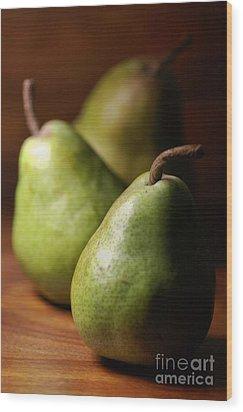 Pear Delight Wood Print by Joy Watson
