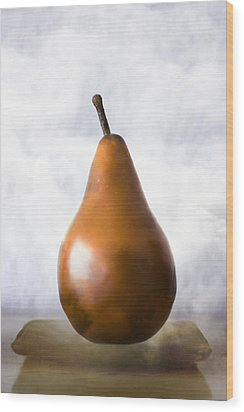 Pear In The Clouds Wood Print by Carol Leigh