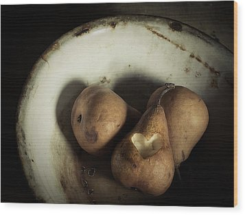 Pear Love Wood Print by Amy Weiss