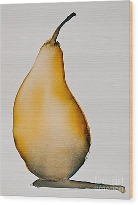 Pear Study Wood Print by Jani Freimann