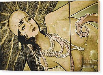 Pearl Mermaid  Wood Print by Colleen Kammerer