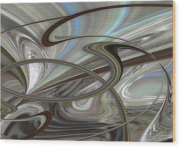 Pearl Swirl Wood Print