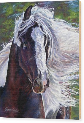 Pearlie King Gypsy Vanner Stallion Wood Print