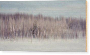 Pearly Winter. Impressionism Wood Print by Jenny Rainbow