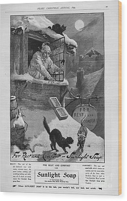Pears  1899 1890s Uk Cc Sunlight Winter Wood Print by The Advertising Archives
