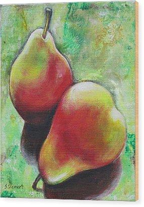 Pears 2 Wood Print by Sheila Diemert