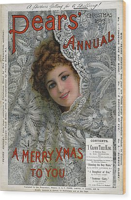 Pears Annual 1899 1890s Uk Cc Christmas Wood Print by The Advertising Archives