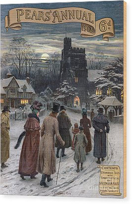 Pears Annual 1913 1910s Uk Cc Villages Wood Print by The Advertising Archives