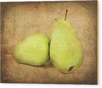 Pears Wood Print by Barbara Orenya