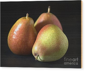 Pears Wood Print by Joy Watson