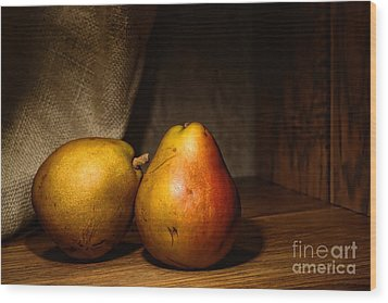 Pears Wood Print by Olivier Le Queinec