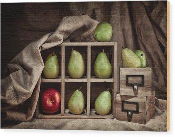 Pears On Display Still Life Wood Print by Tom Mc Nemar