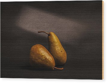 Pears Wood Print by Peter Tellone