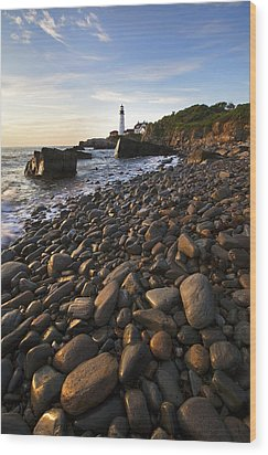 Pebble Beach Wood Print by Eric Gendron