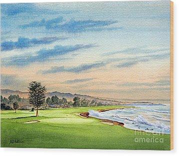 Pebble Beach Golf Course 18th Hole Wood Print