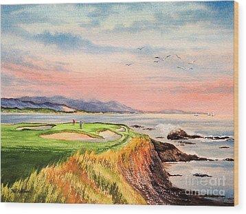 Pebble Beach Golf Course Hole 7 Wood Print