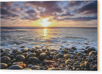 Wood Print featuring the photograph Pebble Beach by Robert  Aycock
