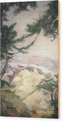 Pebble Beach Vista Wood Print