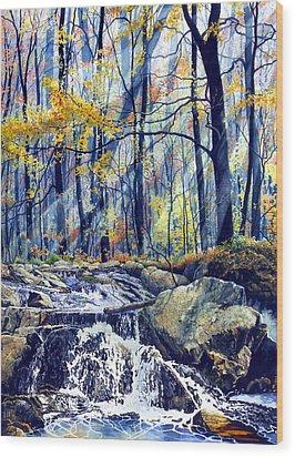 Pebble Creek Autumn Wood Print by Hanne Lore Koehler