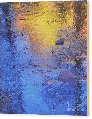 Pecos Reflection Wood Print
