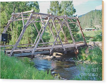 Wood Print featuring the photograph Pecos River Bridge by William Wyckoff