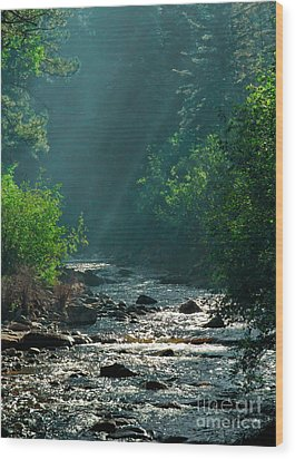 Pecos River Spring Wood Print