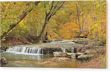 Wood Print featuring the photograph Pedelo Falls by Deena Stoddard