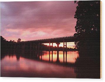 Pee Dee Sunset Wood Print