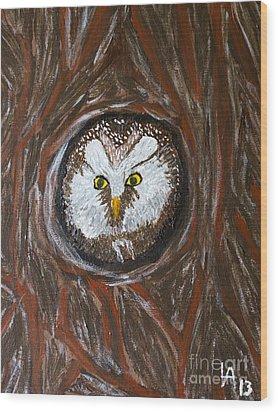 Peek A Boo Wood Print by Lloyd Alexander