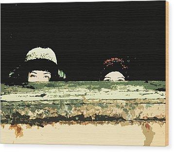 Peek-a-boo Wood Print by Zinvolle Art