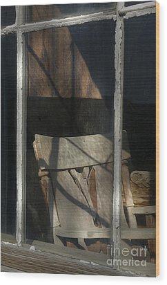 Peek Into The Past Wood Print by Sandra Bronstein