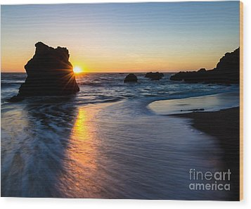 Wood Print featuring the photograph Peeking Sun by CML Brown