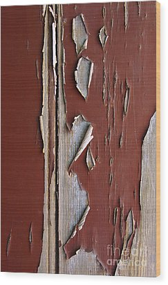 Peeling Paint Wood Print by Carlos Caetano