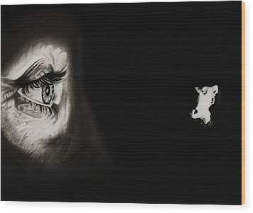 Peeping Tom - Psycho Wood Print by Fred Larucci