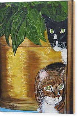 Peeping Tommy Wood Print
