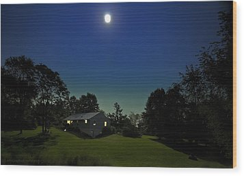 Wood Print featuring the photograph Pegasus And Moon by Greg Reed