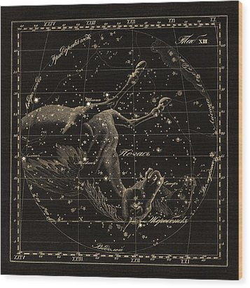 Pegasus Constellations, 1829 Wood Print by Science Photo Library