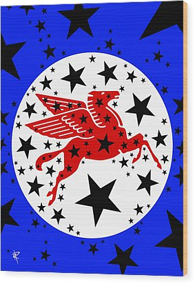 Pegasus Wood Print by Russell Pierce