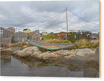 Peggy's Cove 10 Wood Print by Betsy Knapp