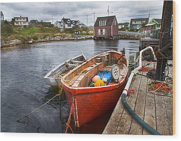 Peggy's Cove 19 Wood Print by Betsy Knapp