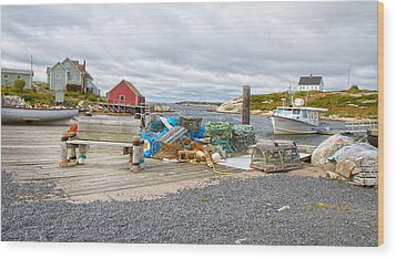 Peggy's Cove 2 Wood Print by Betsy Knapp