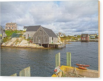Peggy's Cove 6 Wood Print by Betsy Knapp