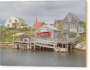 Peggy's Cove 7 Wood Print by Betsy Knapp