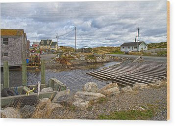 Peggy's Cove 8 Wood Print by Betsy Knapp