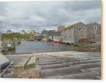 Peggy's Cove 9 Wood Print by Betsy Knapp