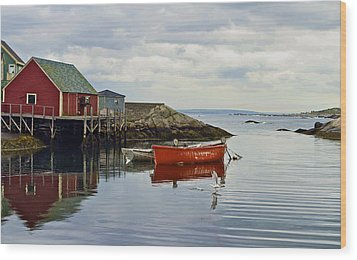 Peggy's Cove Wood Print by John Babis