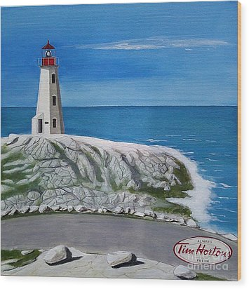 Peggy's Cove Wood Print by John Lyes