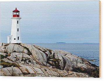 Peggy's Cove Light II Wood Print by Dan Dooley