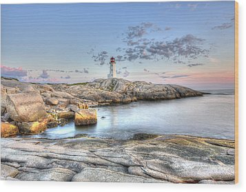 Peggy's Cove Lighthouse Wood Print by Shawn Everhart