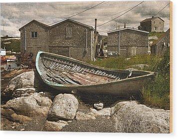 Peggy's Cove Nova Scotia  Wood Print by Cindy Rubin